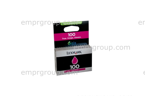 Part Lexm #100 Magenta Ink Cart - 14N0901AAN Lexm #100 Magenta Ink Cart