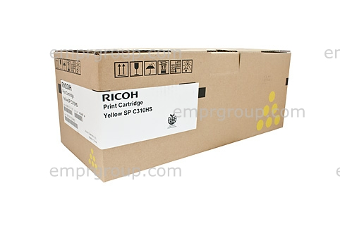 Part Ricoh SPC310 Yellow Toner Cart - 406486 Ricoh SPC310 Yellow Toner Cart