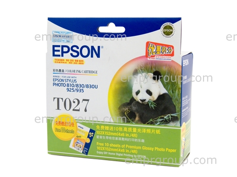 Part Epson T027 Colour Ink Cart - C13T027091 Epson T027 Colour Ink Cart