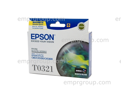 Part Epson T0321 Black Ink Cart - C13T032190 Epson T0321 Black Ink Cart