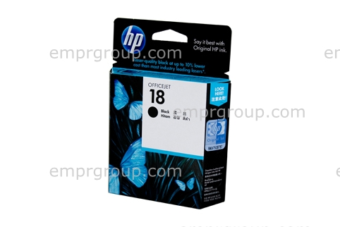 HP Part C4936A HP 18 Black Ink Cartridge