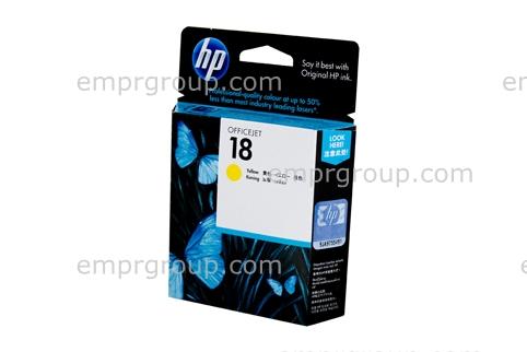 HP Part C4939A HP 18 Yellow Ink Cartridge