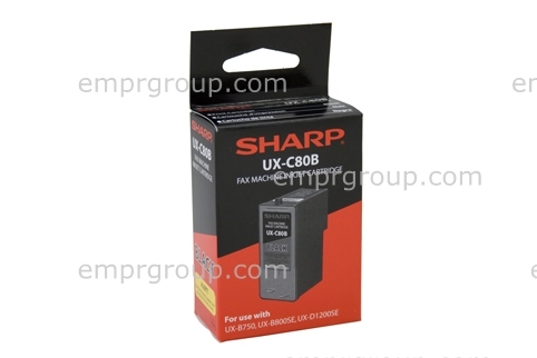 Part Sharp UXC80B Blk Ink Cartridge Sharp UXC80B Blk Ink Cartridge